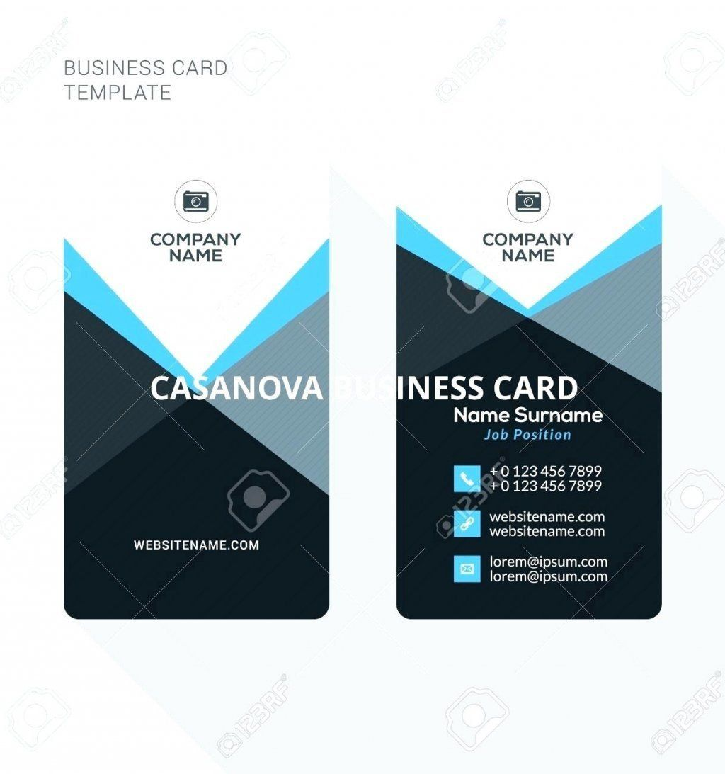 Double Sided Business Card Template Awesome Double Sided Business Card Te Business Card Template Word Vistaprint Business Cards Vertical Business Card Template