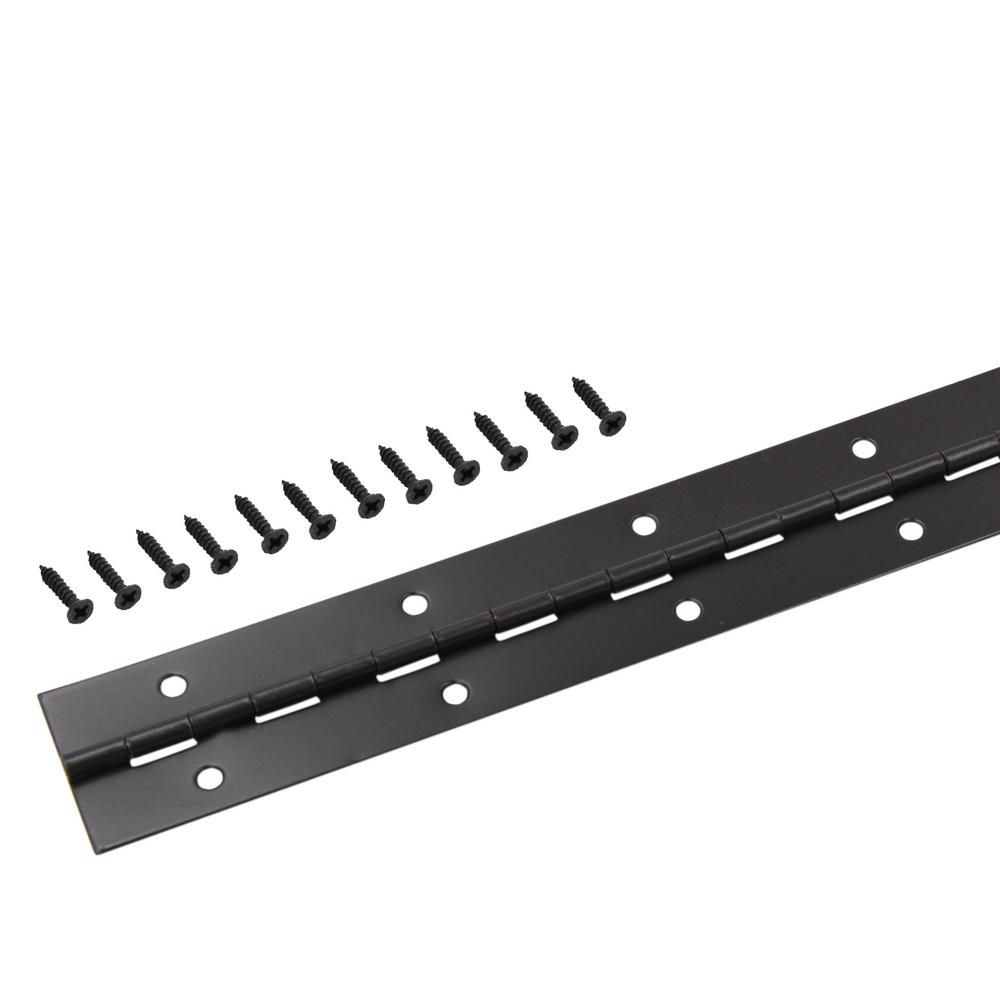 Everbilt 1 1 2 In X 30 In Oil Rubbed Bronze Continuous Hinge