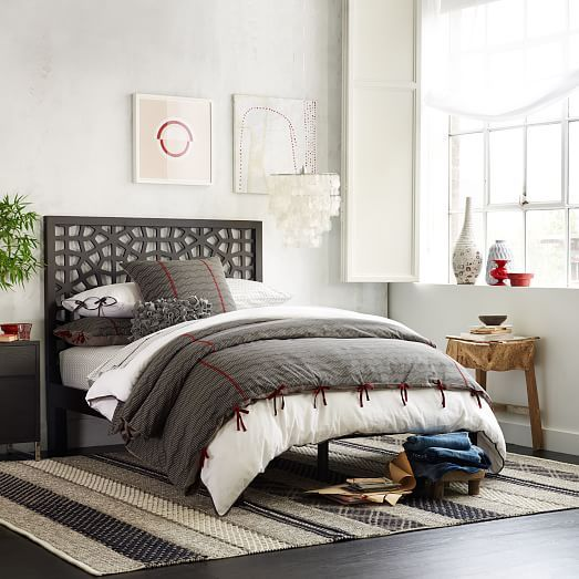 Morocco Bed Chocolate Modern Bedroom Furniture Affordable