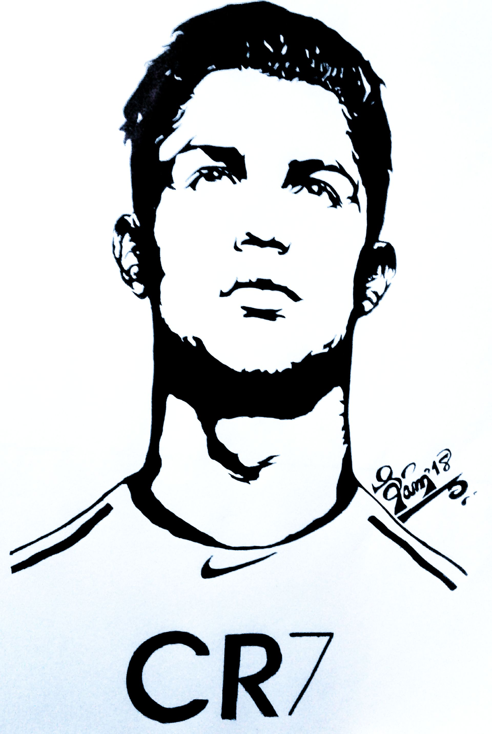 Cristiano ronaldo artwork artwork sketch draw passion cr7 juventus fc