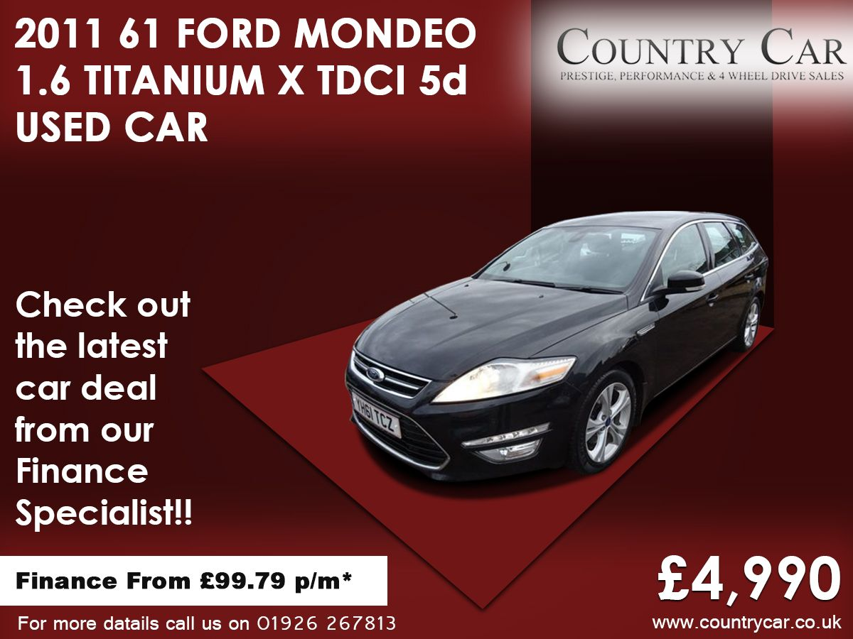 2011 61 Ford Mondeo 1 6 Titanium X Tdci 5d 114 Bhp Ford Mondeo Used Cars Car