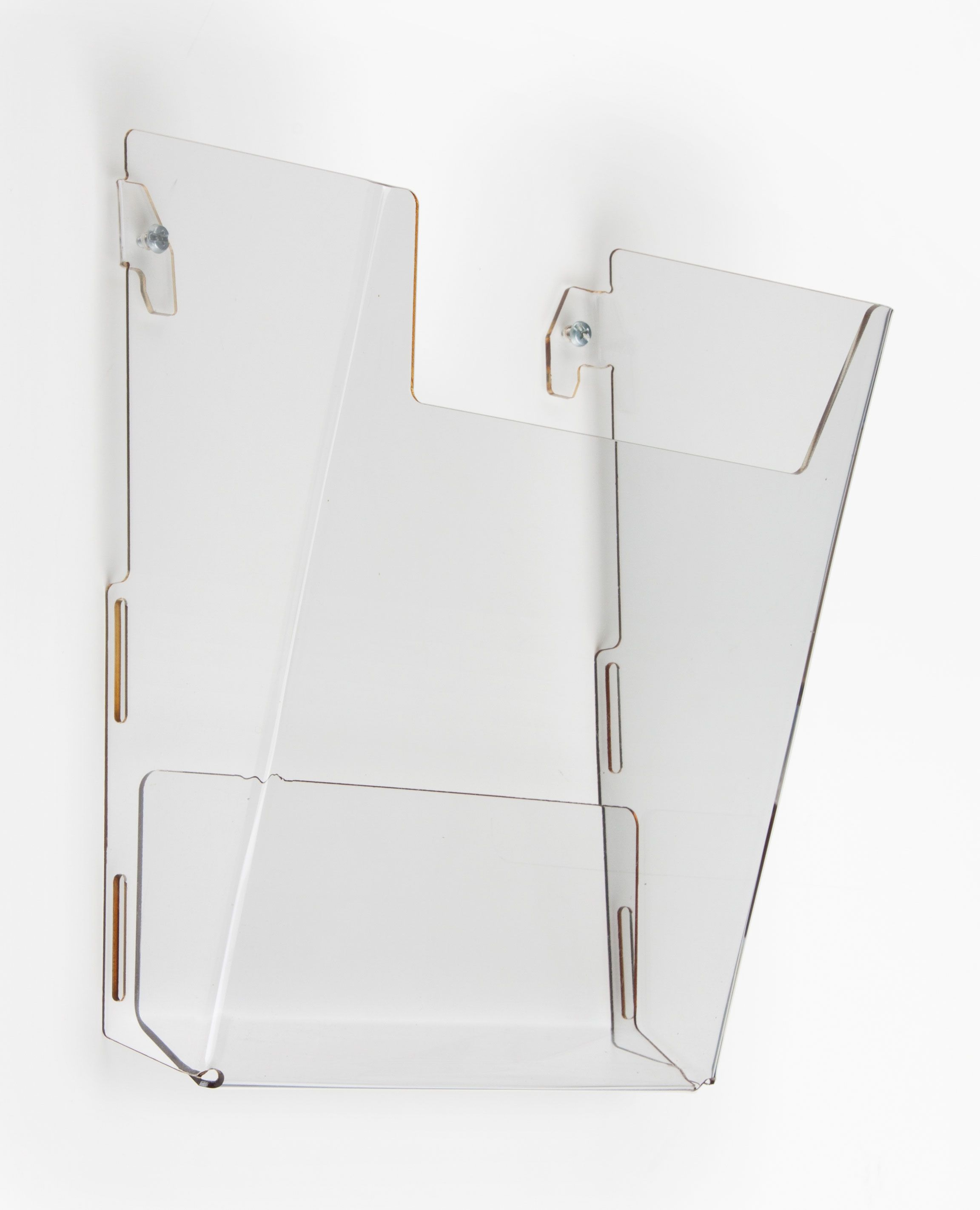 Acrylic Magazine Wall Rack 8 5 W Single Pocket Clear Magazine Wall Wall Racks Wall File Organizer