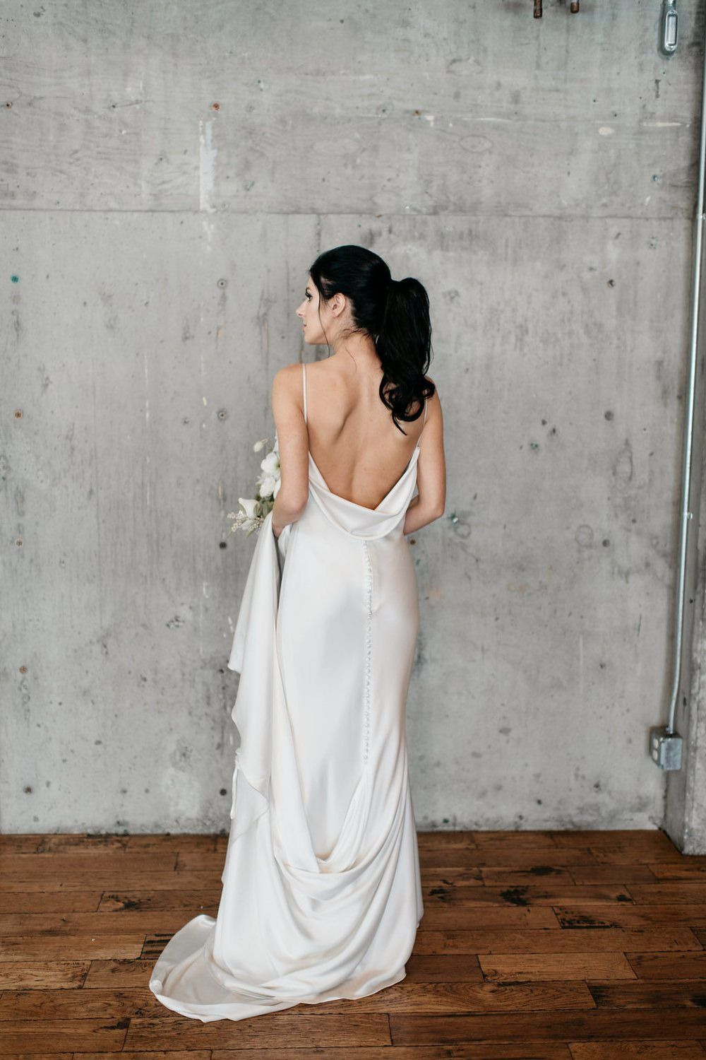Black white wedding dress  Monochromatic Wedding Inspiration Black and White and Fab All Over