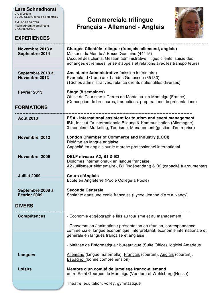 Fichier Pdf Cv Lara Commercialetrilingue Pdf Assistante Administrative Gestion Fichiers