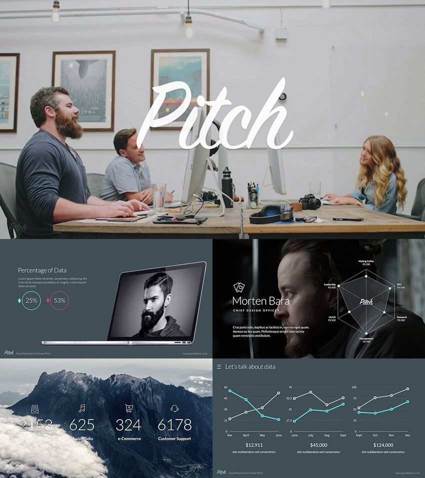 pitch - modern powerpoint template | powerpoint presentation, Presentation templates