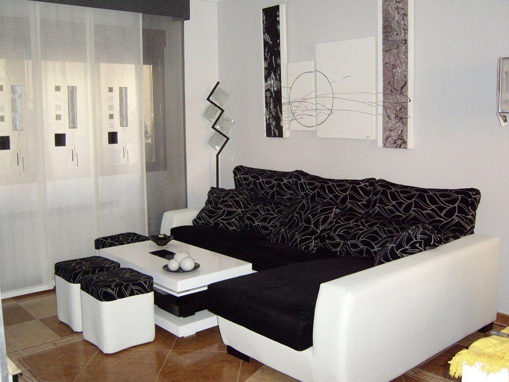 Muebles de salon a sof negro - Salones con sofa negro ...