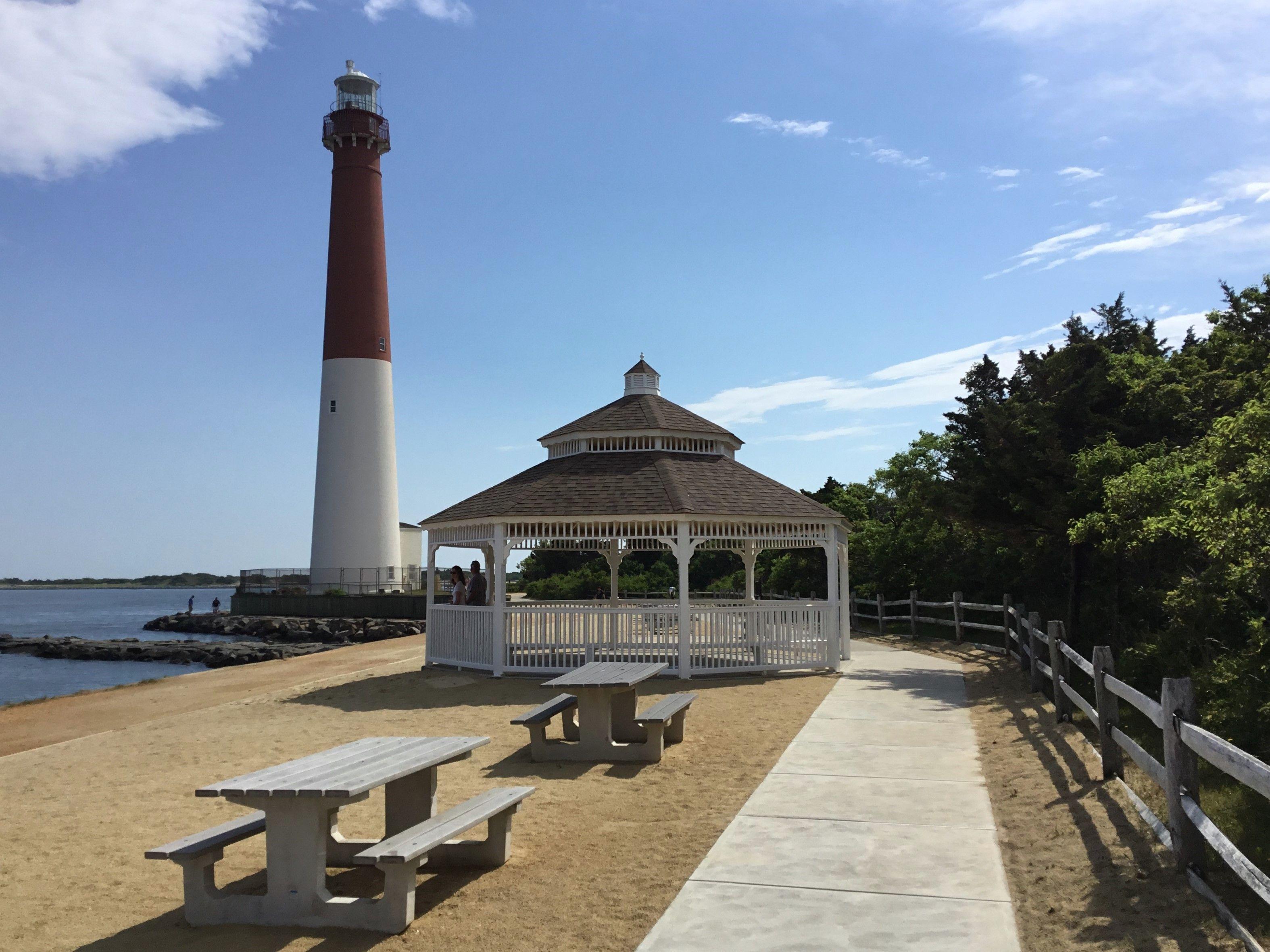 New Pavilion at Barnegat Light NJ in June Perfect backdrop