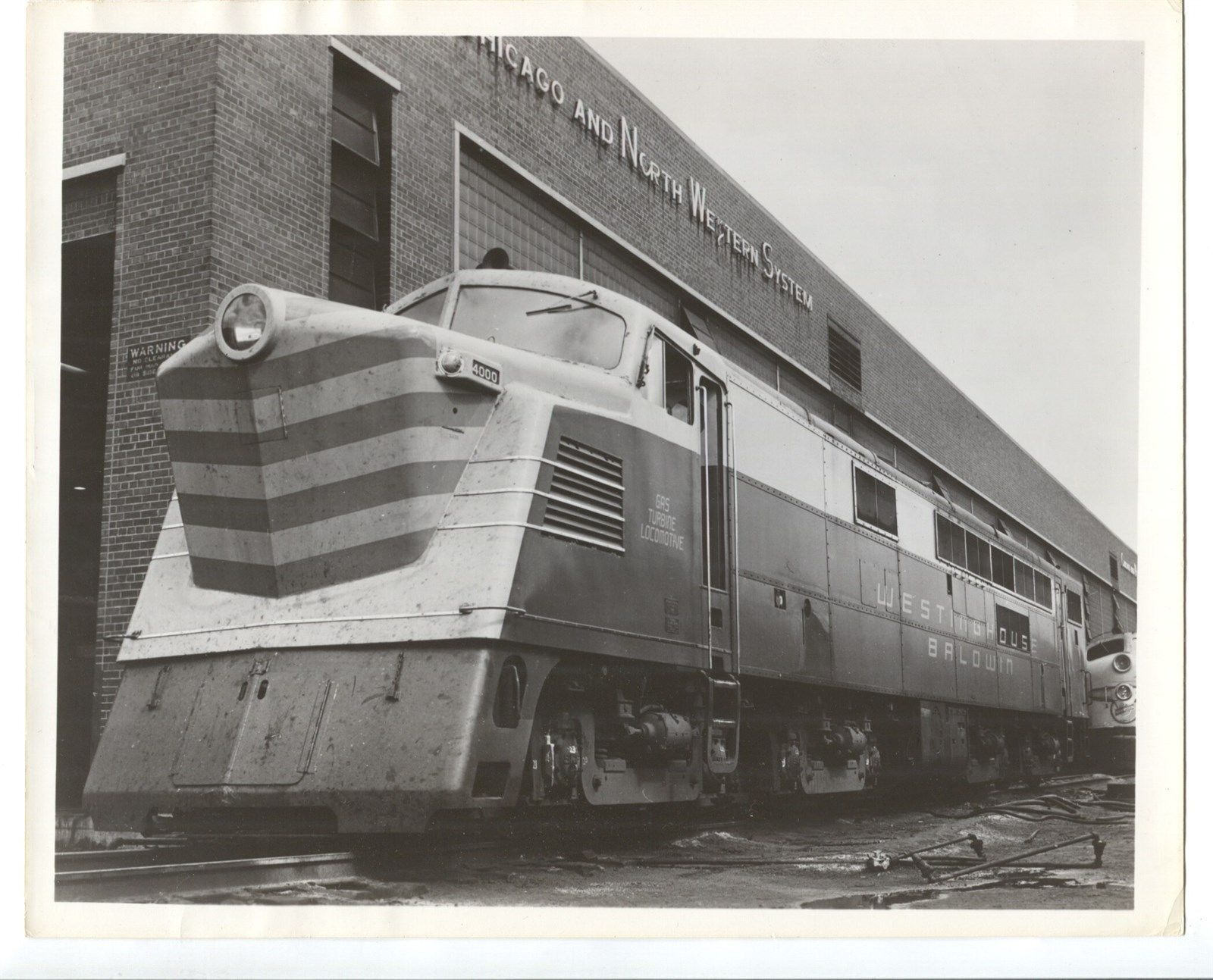 8 x 10 Vintage Chicago & North Western Gas Turbine Lo otive