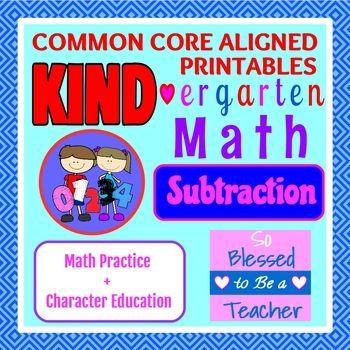 KIND-ergarten Math:Subtraction -Common Core Aligned Kindergarten ...