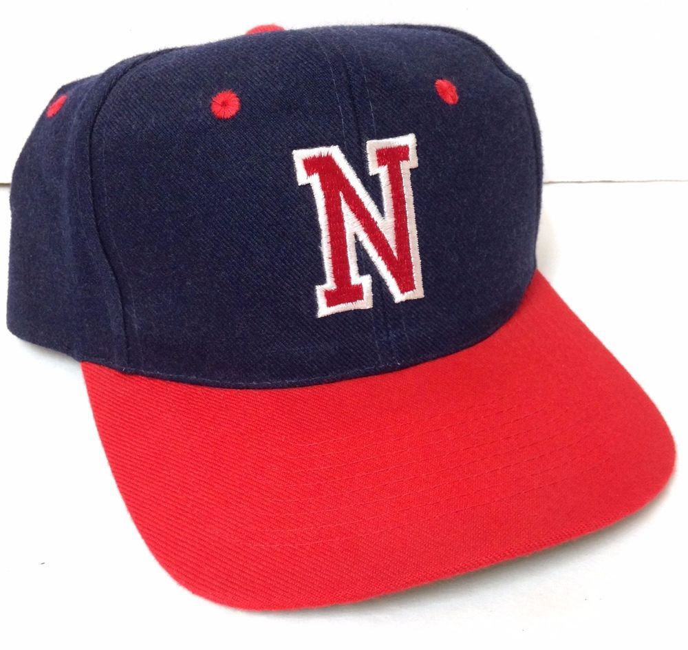 outlet store 7eca7 93d0c where can i buy vtg letter n snapback hat navy blue red white kc caps wool