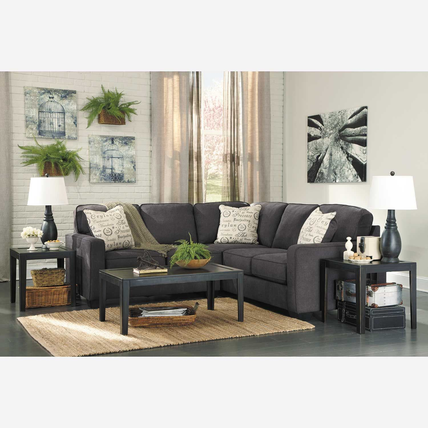 Best 2Pc Charcoal Sectional With Raf Sofa Charcoal Sectional 640 x 480