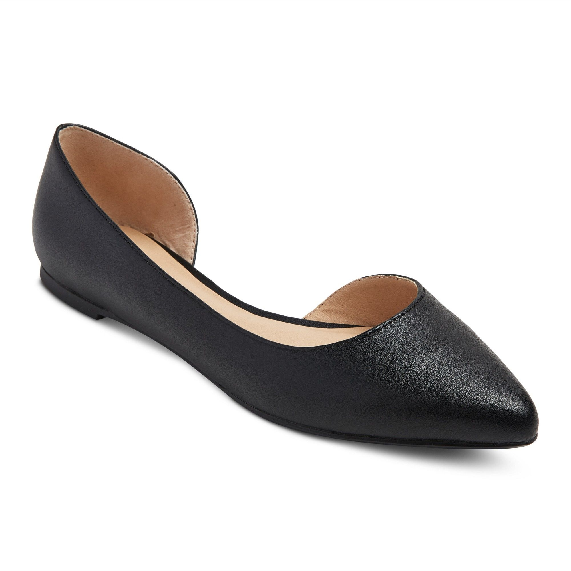 MOSSIMO Brown Round Toe Ballet Flats Shoe Womens 9 Med Faux Leather Slip On Work