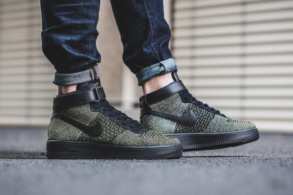 cheaper 6ba90 b34a0 Nike's Air Force 1 Ultra Flyknit Mid Gets Revamped in Dark ...