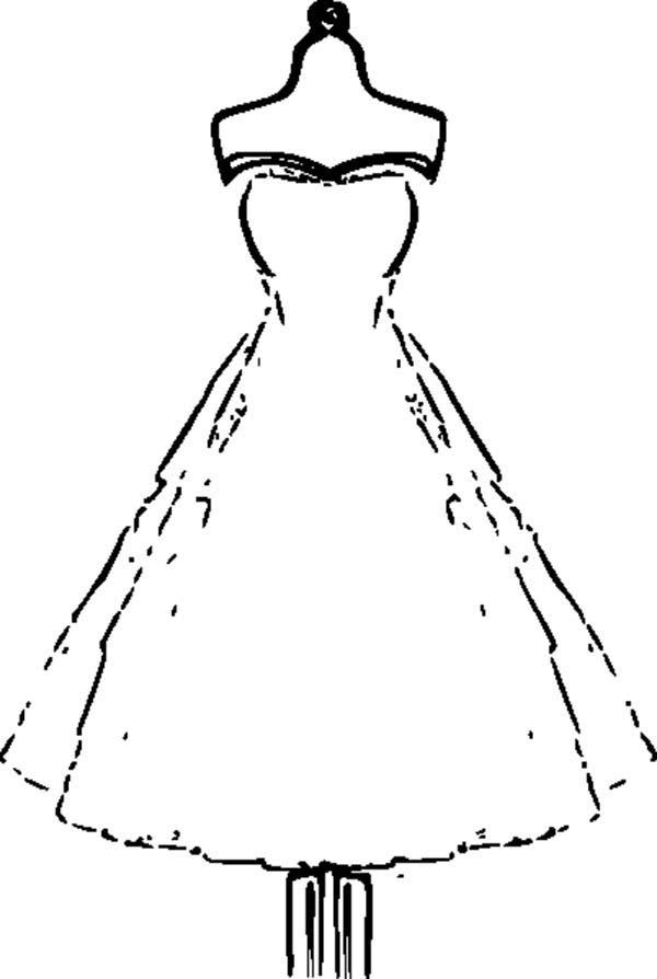 Strapless Wedding Dress Coloring Page Coloring Sun Pinturas Hermosas Patrones Emprendimiento Ideas