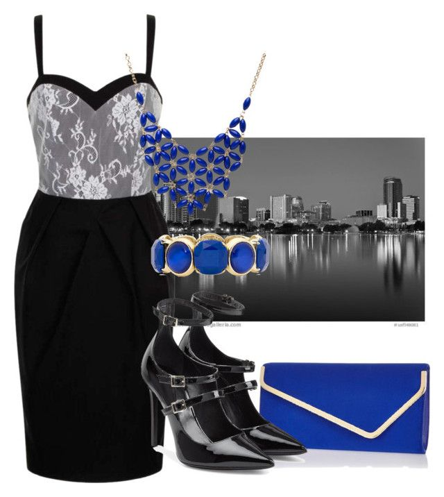 """""""Black With Blue Night Out"""" by mom-kelmarie on Polyvore featuring River Island, Paper Dolls, Tamara Mellon, Alexa Starr and Monet"""