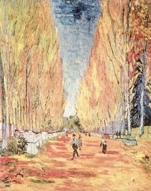 Allee Des Alyscamps En Arles By Vincent Van Gogh Fine Art Print