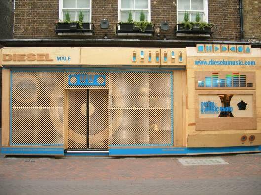 Diesel radio shopfront
