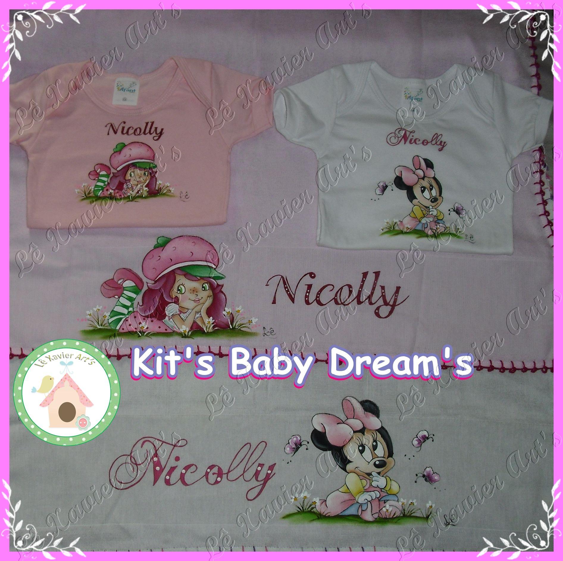 Kit Baby Dream's: Body + fralda. esses são da Nicolly www.facebook.com/lexavierarts