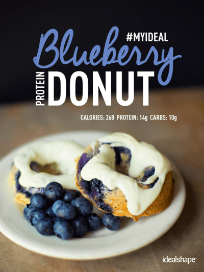 Blueberry Protein Donuts with IdealShake #proteindonuts