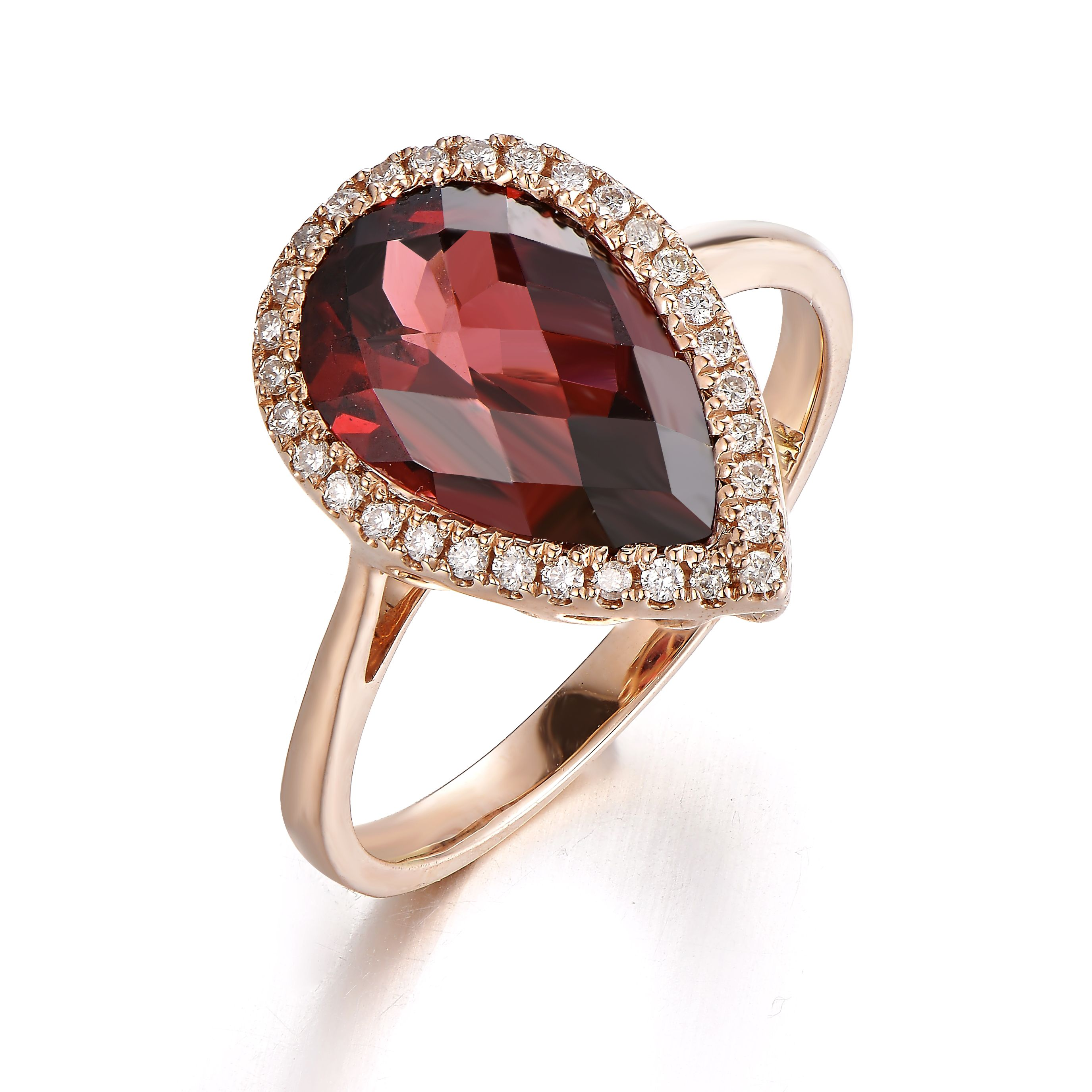 garnet fine ring diamond pav broome cut product cushion halo jewelry