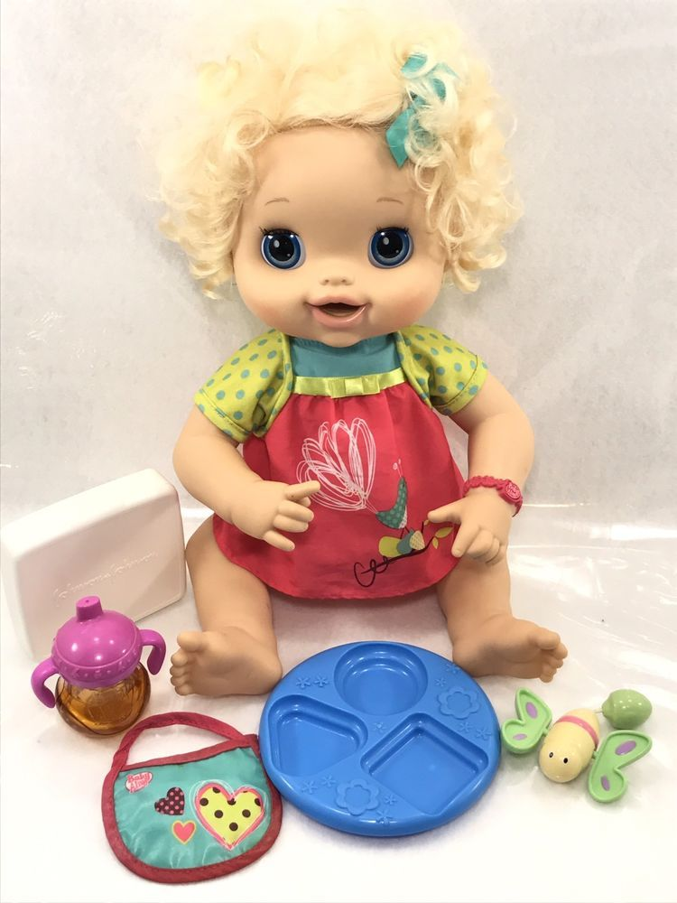 Baby Alive Hasbro My Baby Alive Blonde Hair Talking Eating Pooping Inactive Doll Baby Alive Baby Girl Dolls Baby Alive Dolls