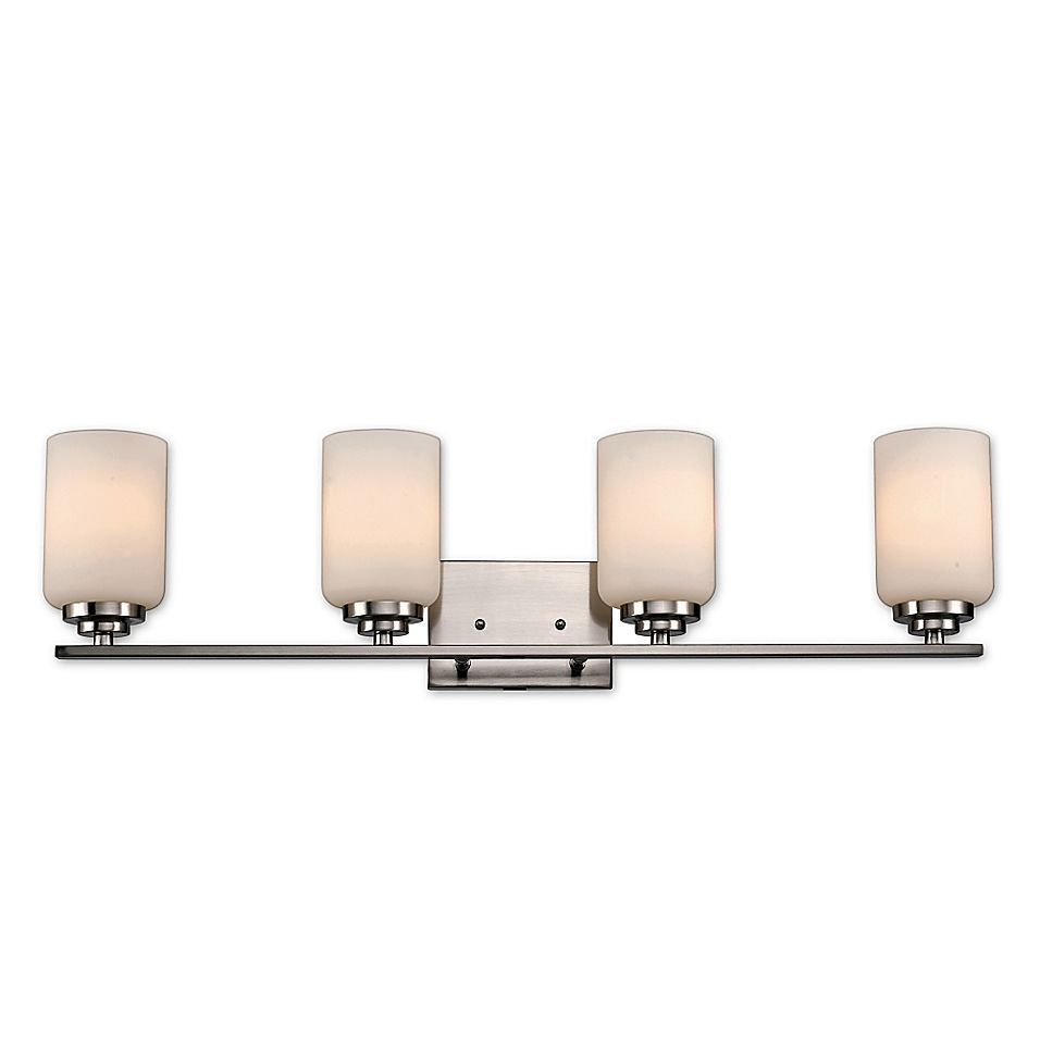 Photo of Bel Air Lighting Mod Space 4-Light Bathroom Fixture In Brushed Nickel,Bel Air Lighting Mod Sp…