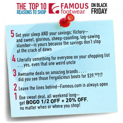 Top 10 Reasons to shop Famous Footwear on Black Friday! famous.com