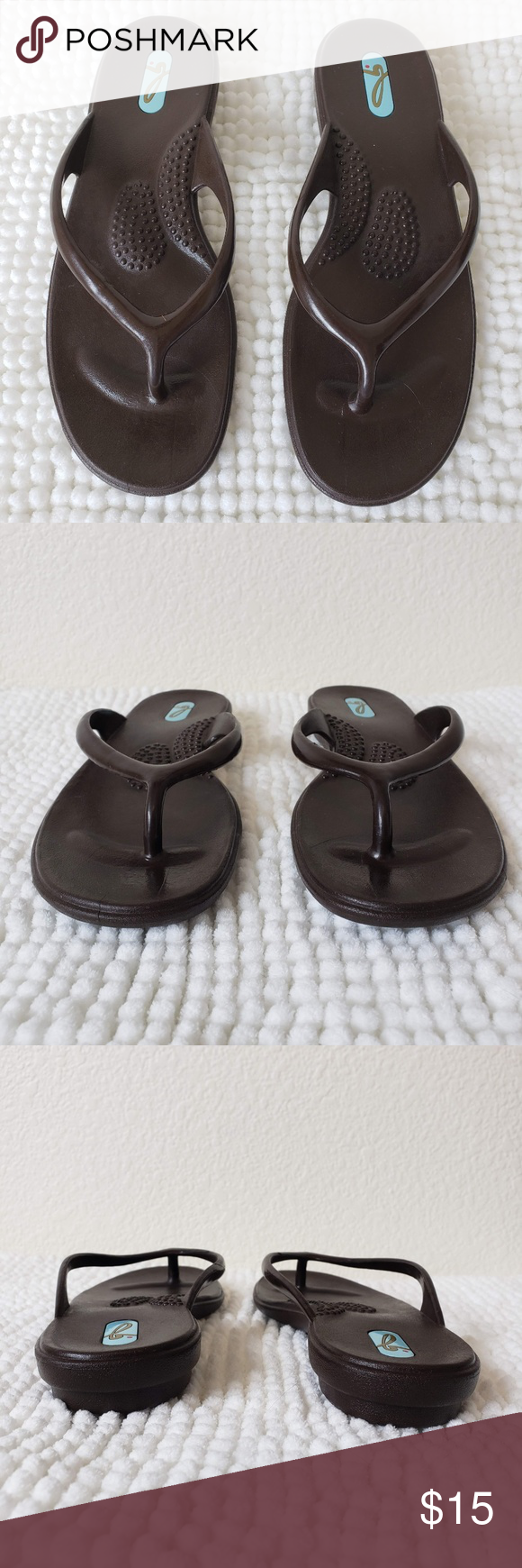 897e09d8472bf3 OKA b. Flip Flops Thong Sandals Brown Size 6 Brand  OKA b. Size  Small  (fits women s 5.5-6.5) Color  Brown Condition  In very good used condition!