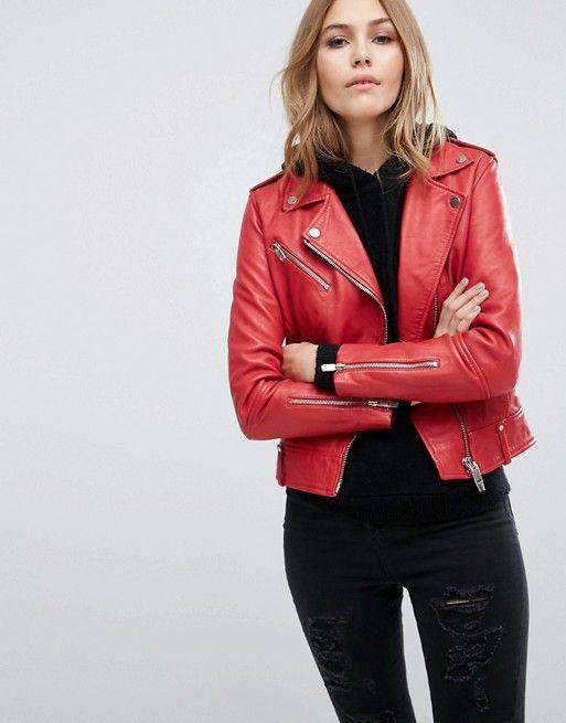 1910fd58c3 Mango Real Leather Biker Jacket in 2019
