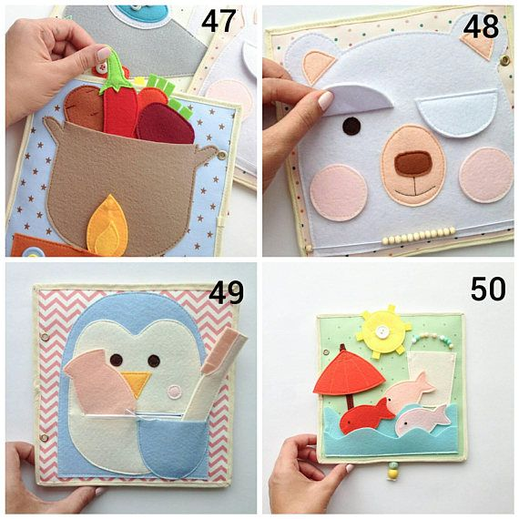 Quiet Book Pages - Quiet Book Toddler - Quiet Book - Busy Book - Activity  Book - First Book - Educational Games - Felt Quiet Book. Libros Para  BebésLibros ... b80d03a5db1