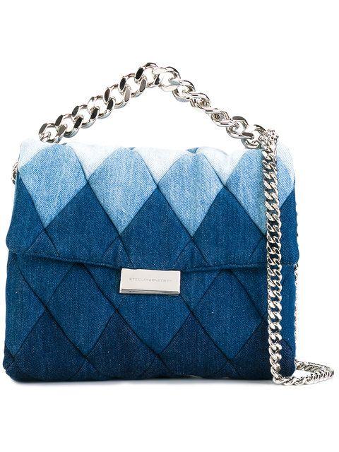 STELLA MCCARTNEY Patchwork Denim Shoulder Bag.  stellamccartney  bags  shoulder  bags  denim afdf3e715e4b9