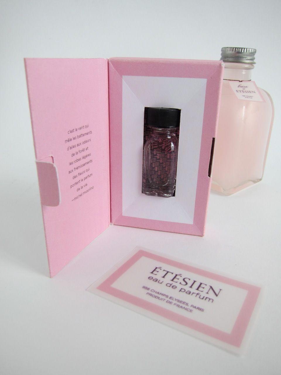 Fragrance package design.