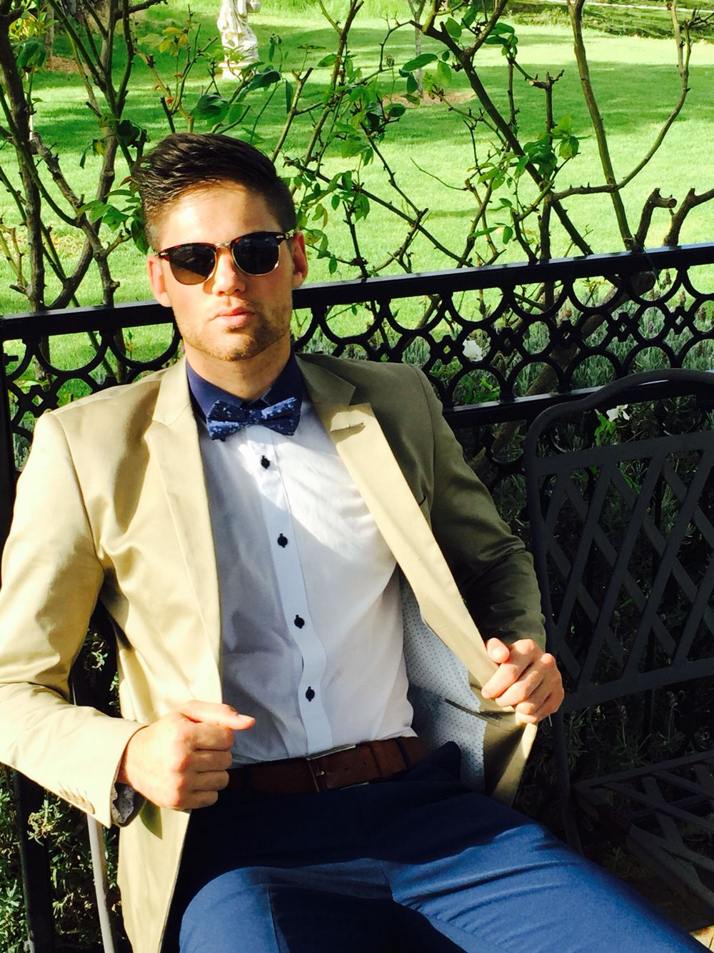 Wedding fashions is the best! Model Steven Bruggemann