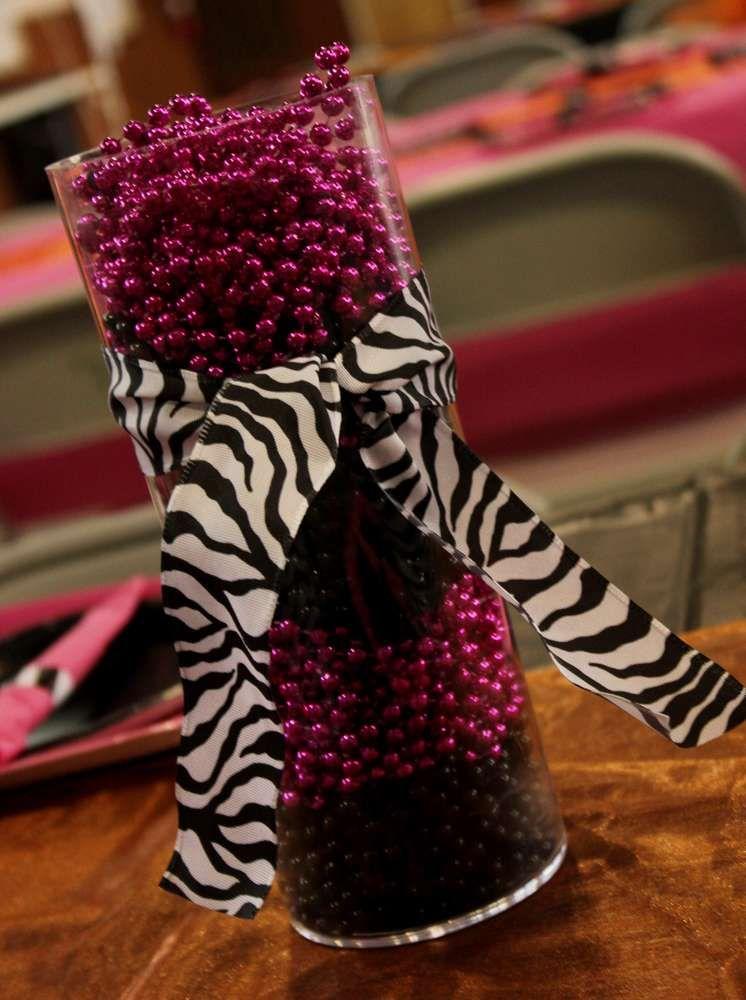Hot Pink with Zebra Print Birthday Party Ideas Zebra print