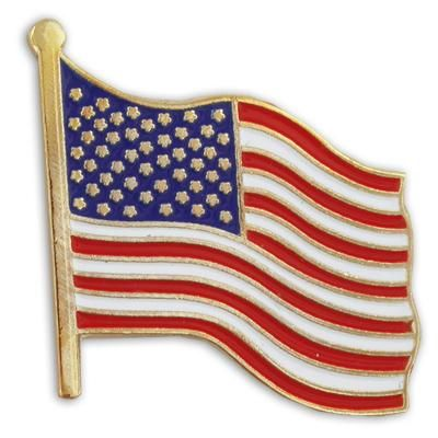 Waving American Flag Lapel Pin American Flag Pin Flag Lapel Pins American Flag Lapel Pin