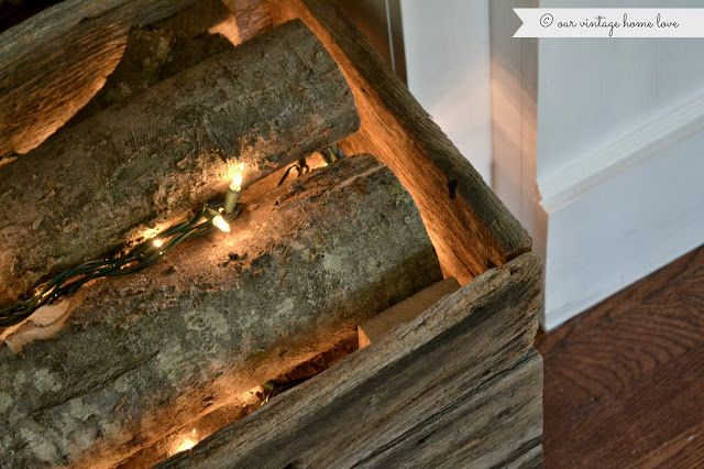 Our Vintage Home Love Faux Fireplace Faux Fireplace Vintage House Christmas House Lights