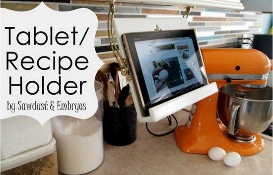 Under Cabinet Kitchen Tablet Holder