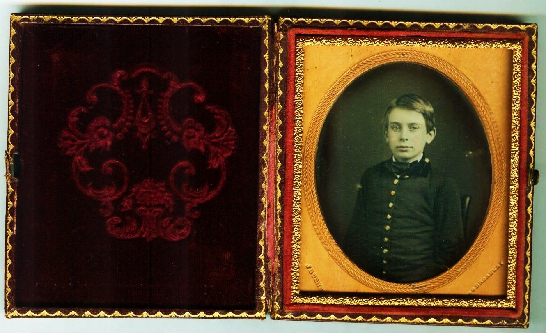 Daguerreotype of A Boy Signed J Gurney | eBay