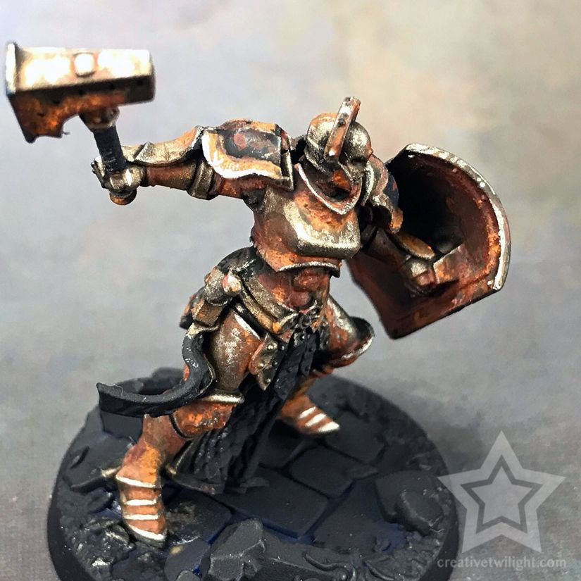 How To Paint A Realistic Rust Effect For Miniatures Tutorial Miniature Painting Painting Miniatures Tutorials