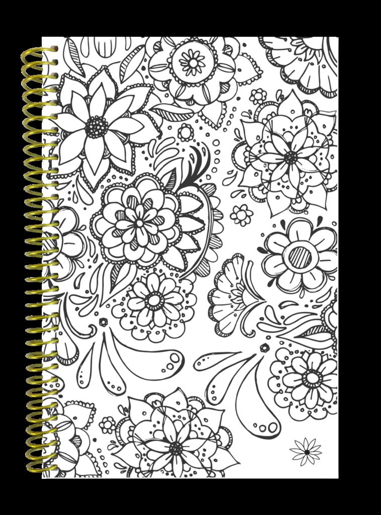 Undated Coloring Book Planner Calendar Undated Daily Planner Planner Calendar Planner Book