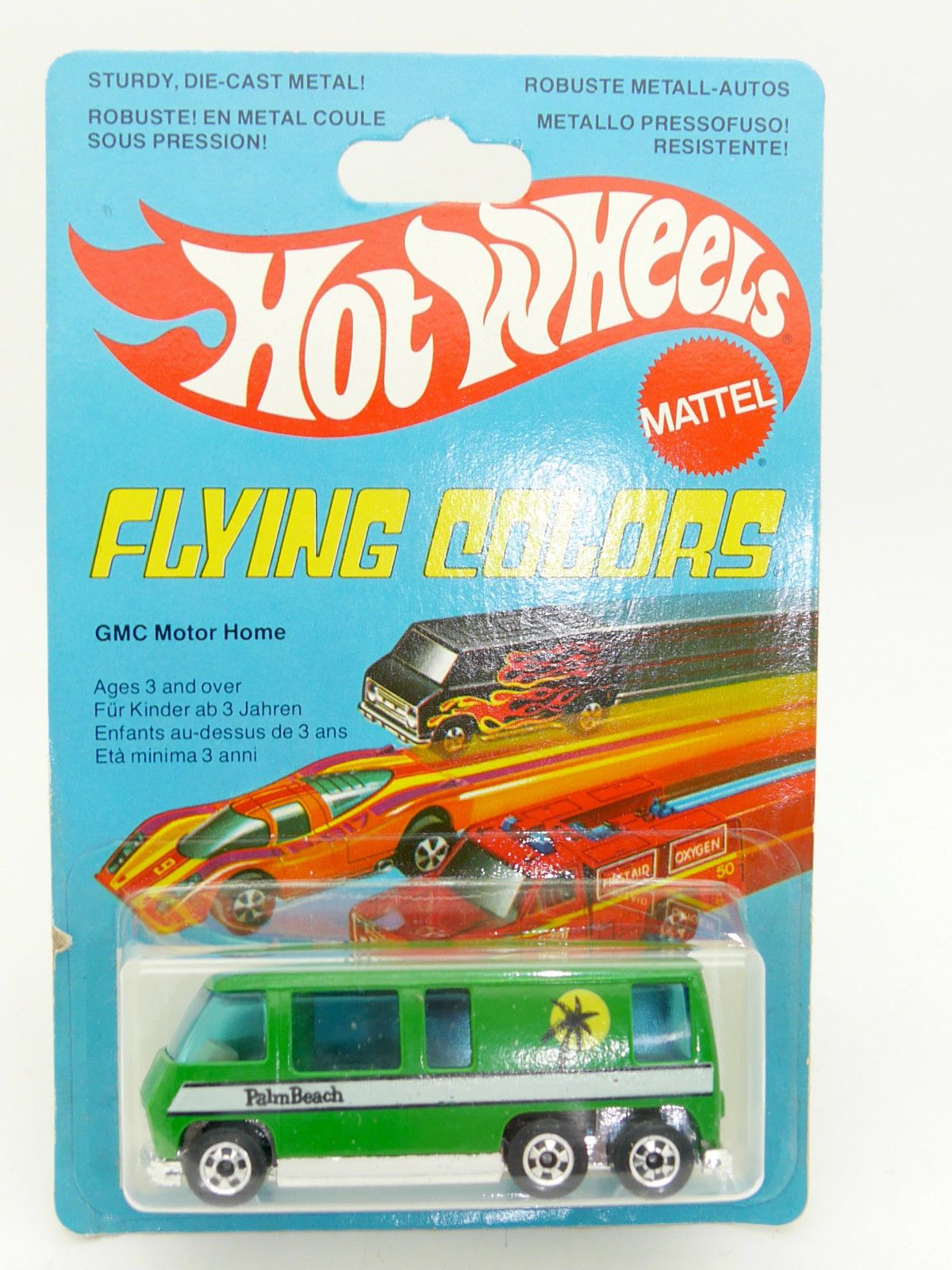 HOT WHEELS FLYING COLORS GMC MOTOR HOME EN BLISTER FRANÇAIS FRENCH ...