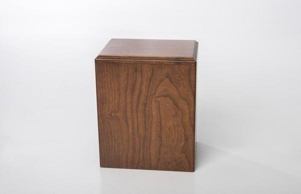 Cherry Wood Cremation Urn, Deep Cherry Finish