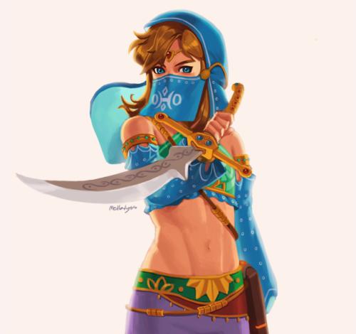 Mellalyss Legend Of Zelda Gerudo Link Legend Of Zelda Breath
