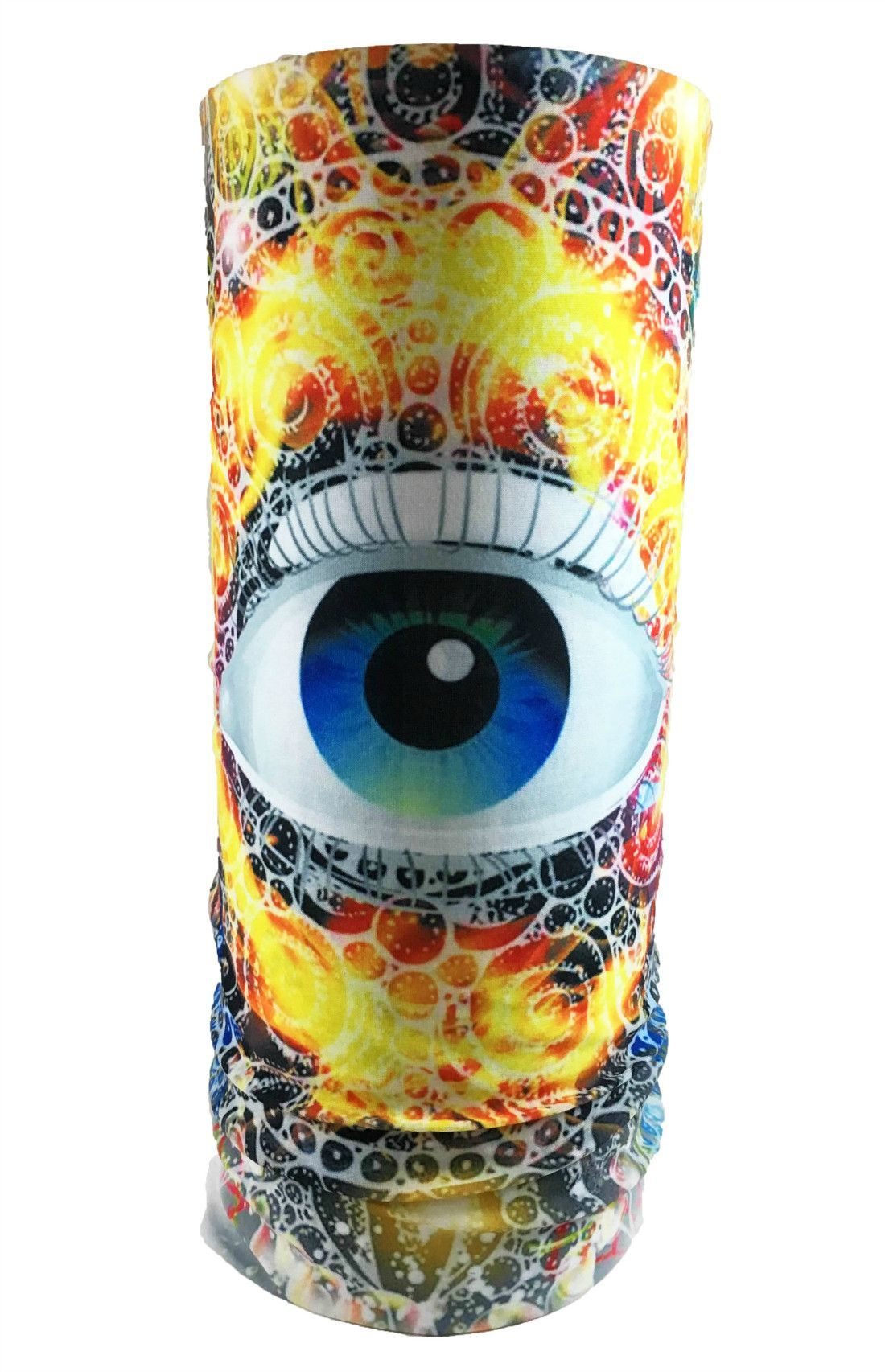 Flaming Eye Rave Bandana Multifunctional Seamless Mask