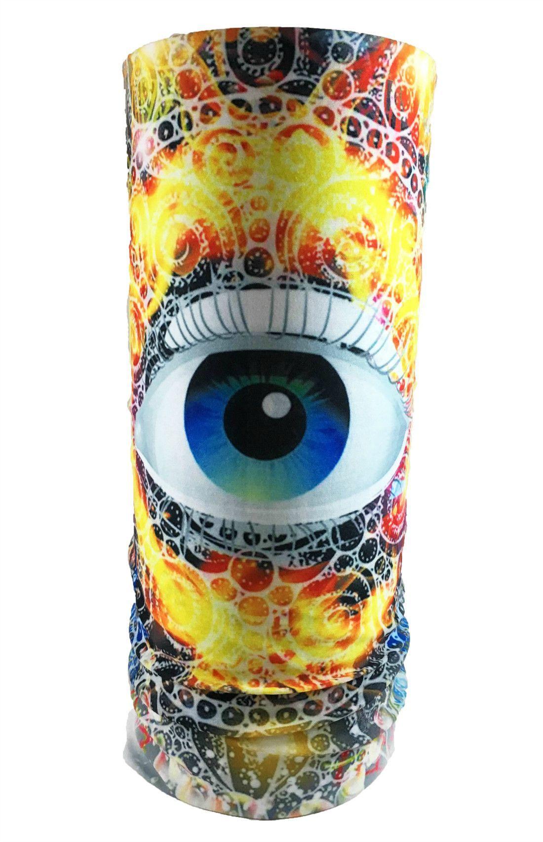 Flaming Eye Rave Bandana Multifunctional Seamless Mask