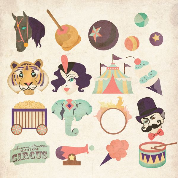 Circus Symbol Set on Behance