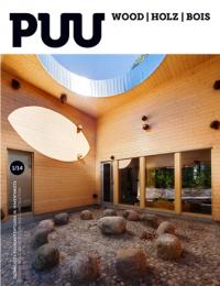 PUU: suomalaista puuarkkithetuuria ja puurakentamista = finnish wooden architecture and wooden construction. Nº 1/14. Texto completo: http://www.puuinfo.fi/sites/default/files/content/puulehti/puu-lehti-12014/puu114low.pdf Na biblioteca: http://kmelot.biblioteca.udc.es/record=b1227771~S1*gag