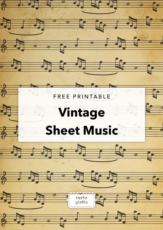 Free Printable Vintage Sheet Music Vintage paper