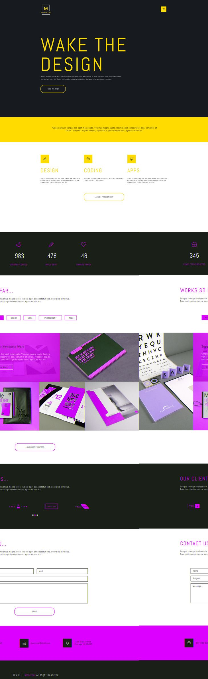 Montreal Creative Portfolio PSD Web Theme preview | Web & UI/UX ...