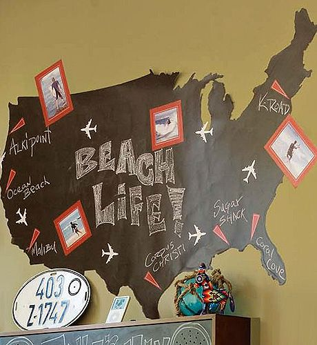 Pin By YourVectorMaps On Maps As Decor Pinterest Style - Us map chalkboard